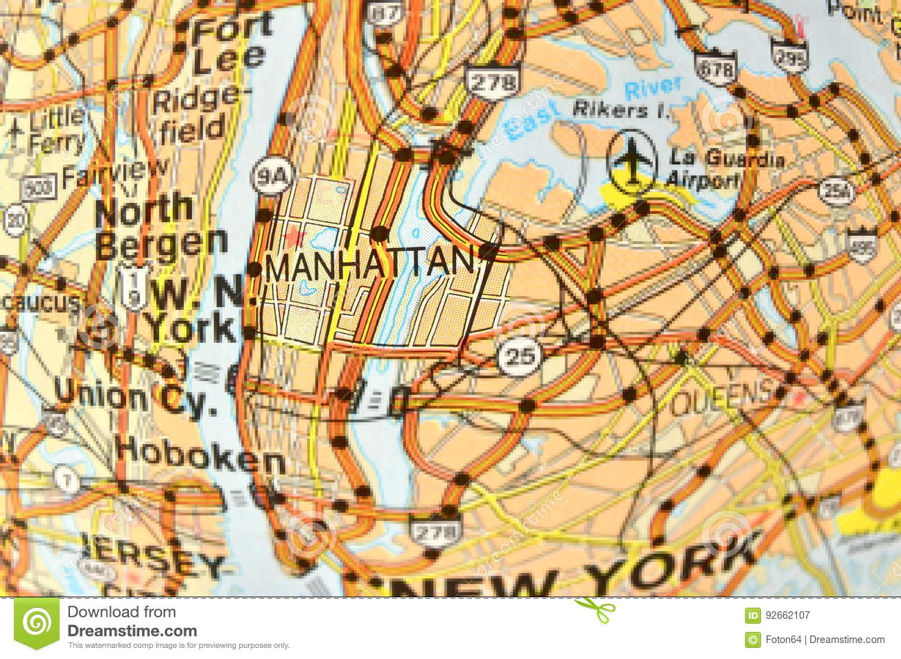 Map Of New York Districts.Manhattan Map Stock Image Image Of Vacation Brooklyn 92662107