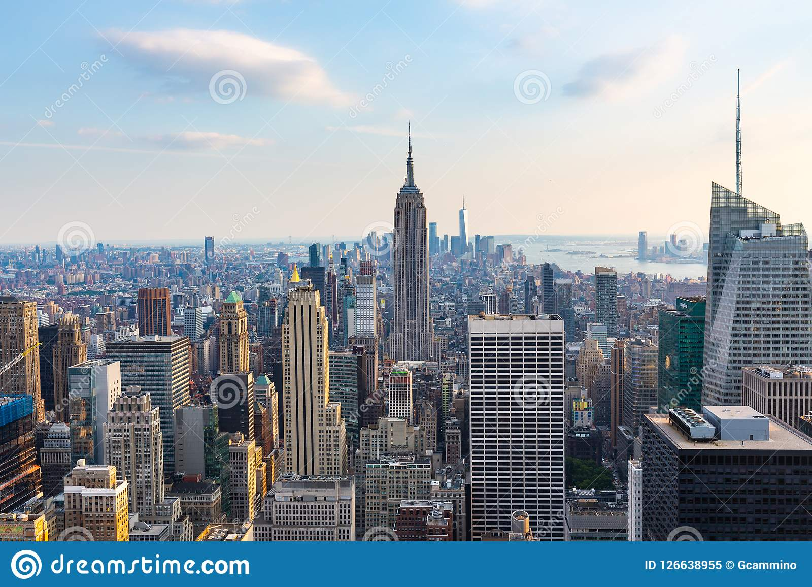 Manhattan - Mening vanaf Bovenkant van de Rots - Rockefeller-Centrum - New York