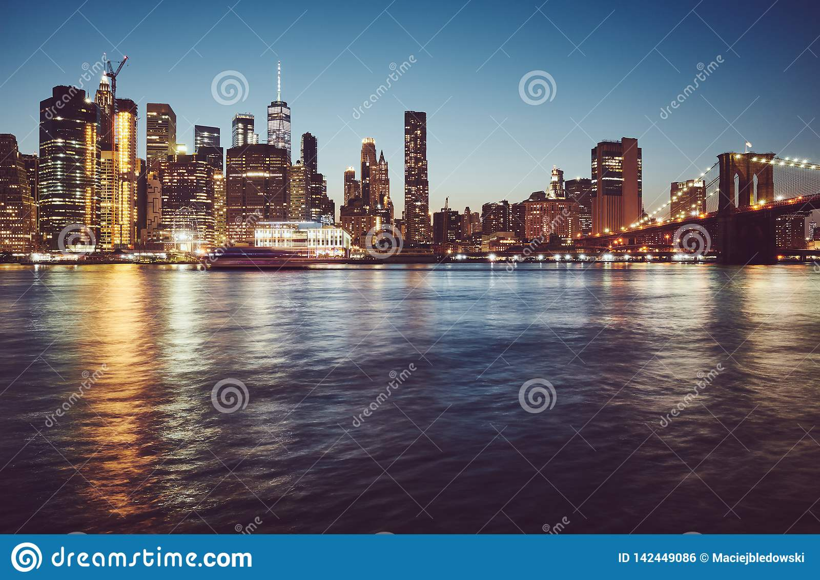 Manhattan na hora azul, New York