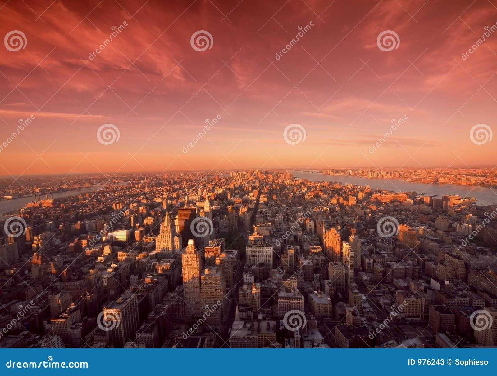 Manhattan nowy York wschód słońca