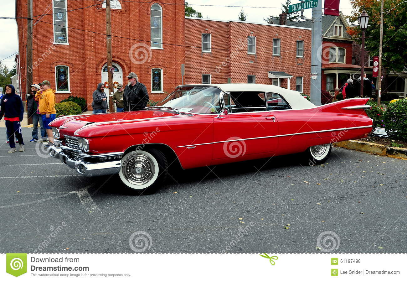 Manheim, PA: Classic Car Show Cadillac Editorial Stock Photo ...