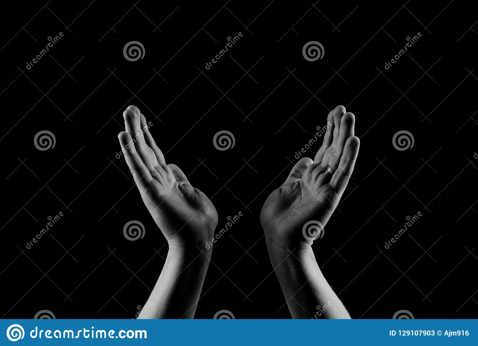 Mani amiche Dare le mani Donazione e concetto di offerta Equipaggia le palme delle mani su