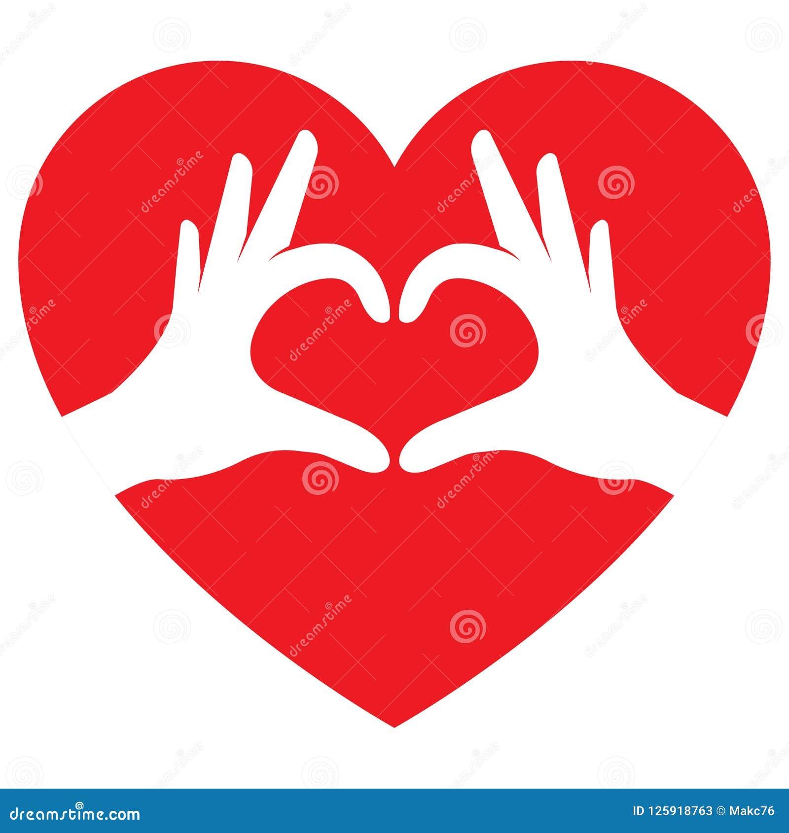 Mani che fanno figura del cuore