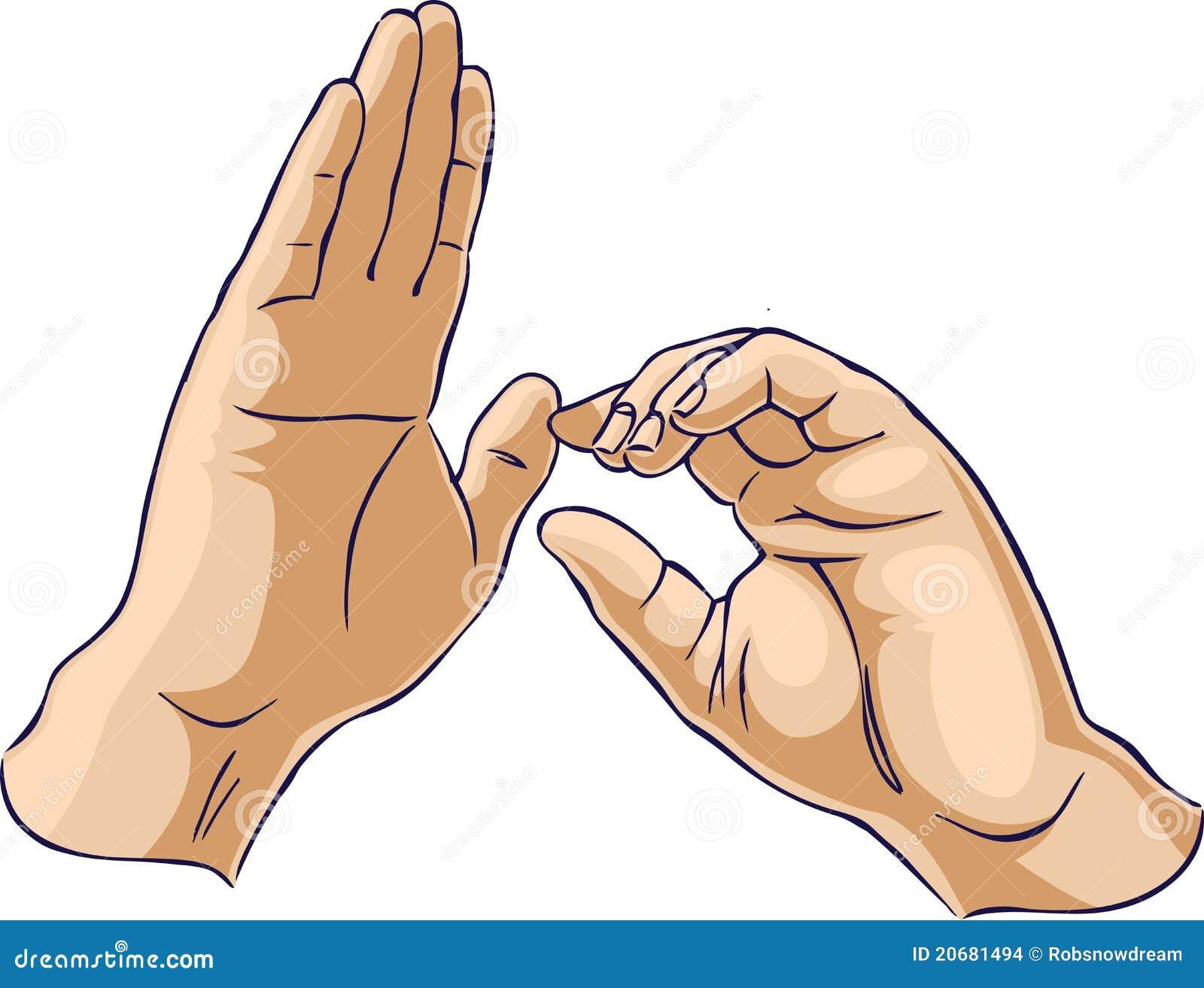 Mani che mostrano un gesto di trazione