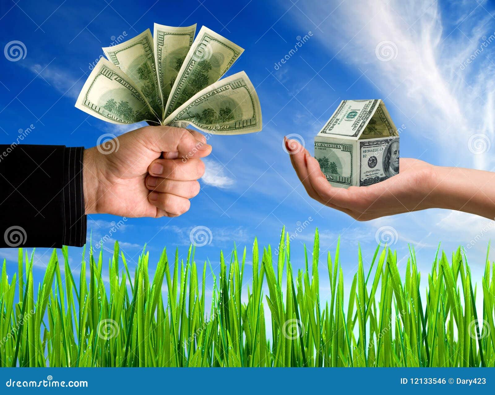 Mani con soldi e la casa fotografia stock immagine di - Soldi contanti a casa ...