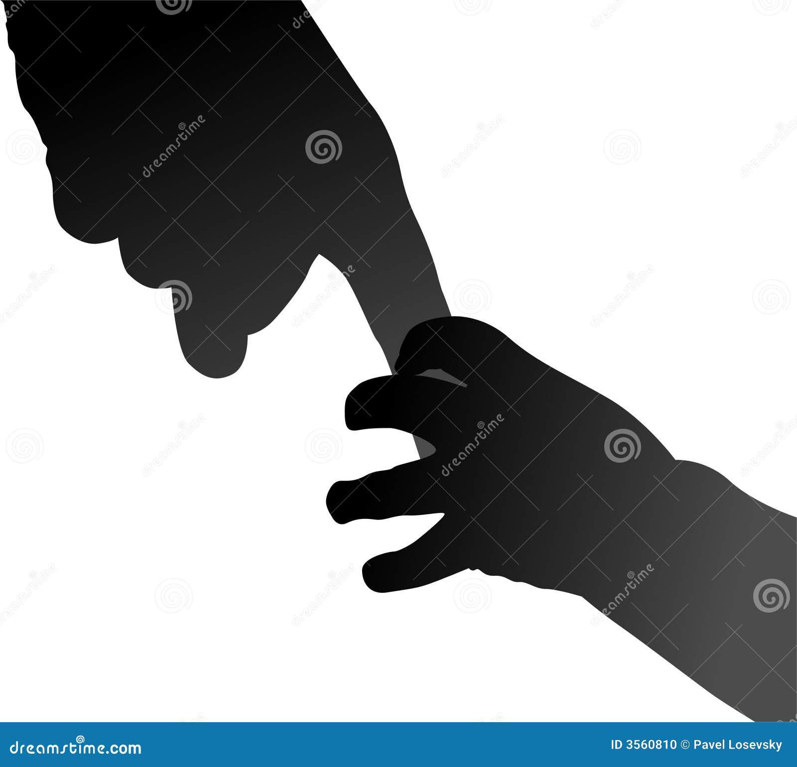 Mani del bambino e della madre