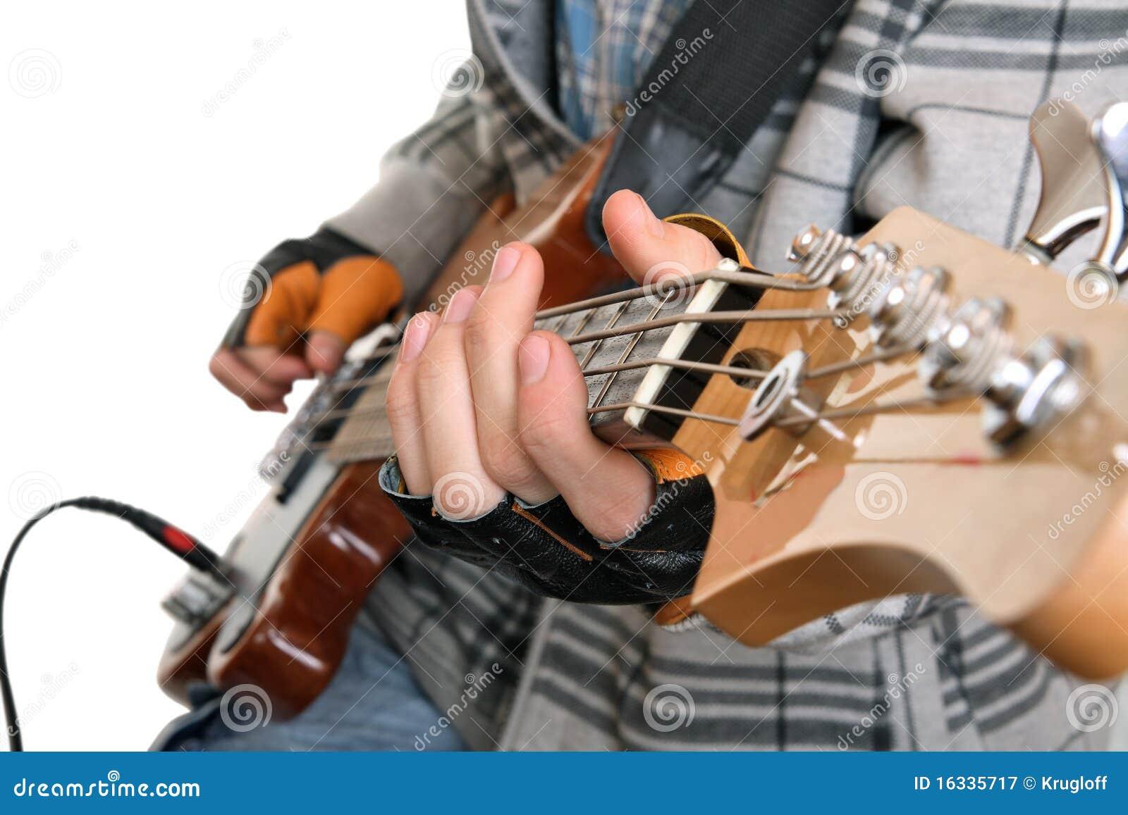 Mani di un musicista della roccia
