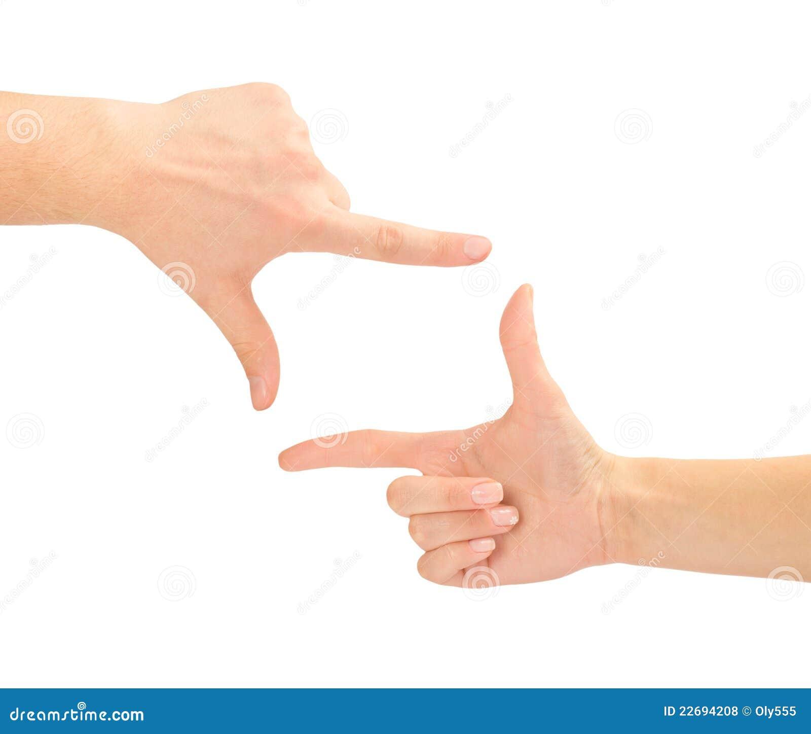 Mani sotto forma del blocco per grafici