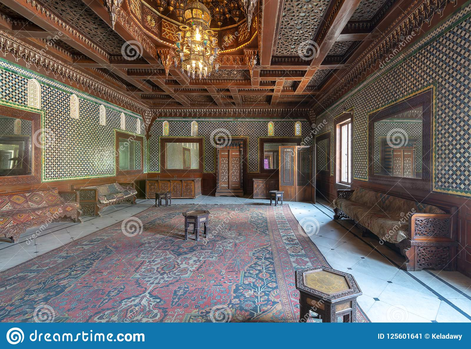 Manial Palace Of Prince Mohammed Ali Moroccan Hall With Blue