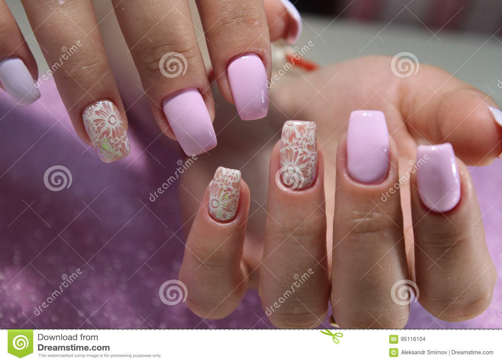 Manicure Design Nail Polish Gel Stock Photo Image Of