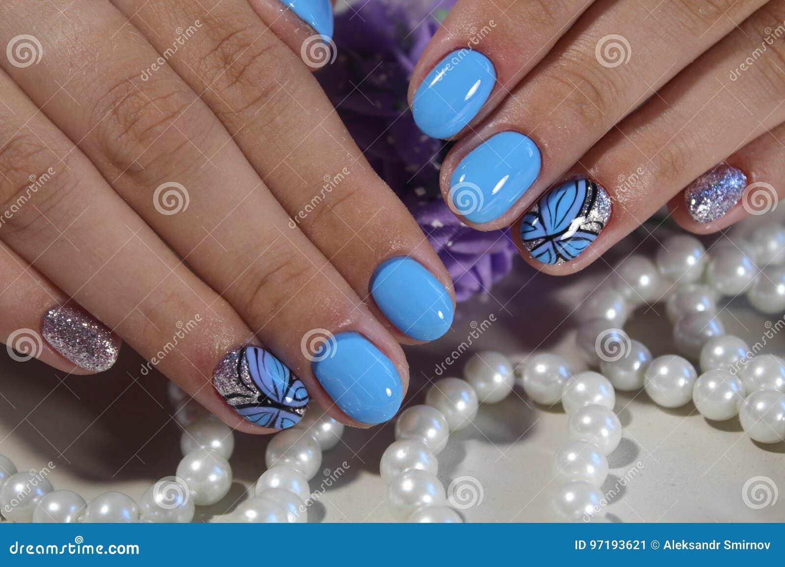 Manicure Design Nail Polish Gel Stock Image Image Of Hand