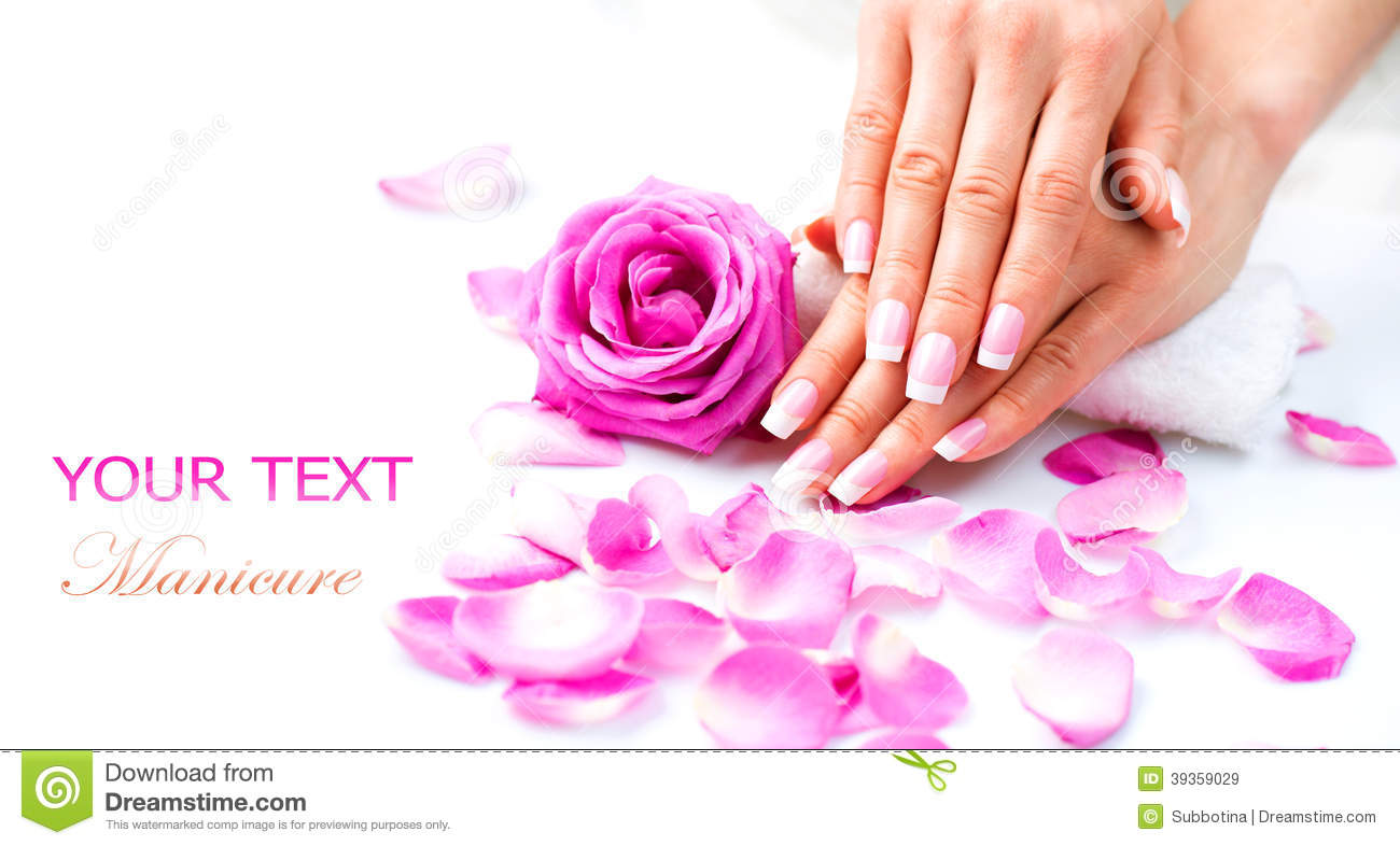 manicure and hands spa stock photo