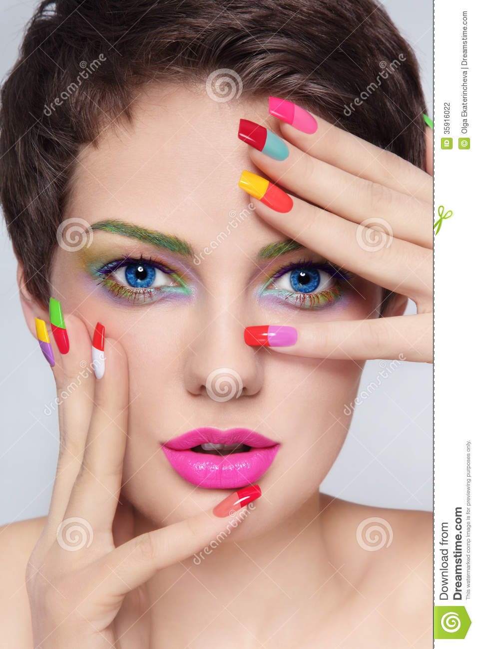 Colorful makeup eyes