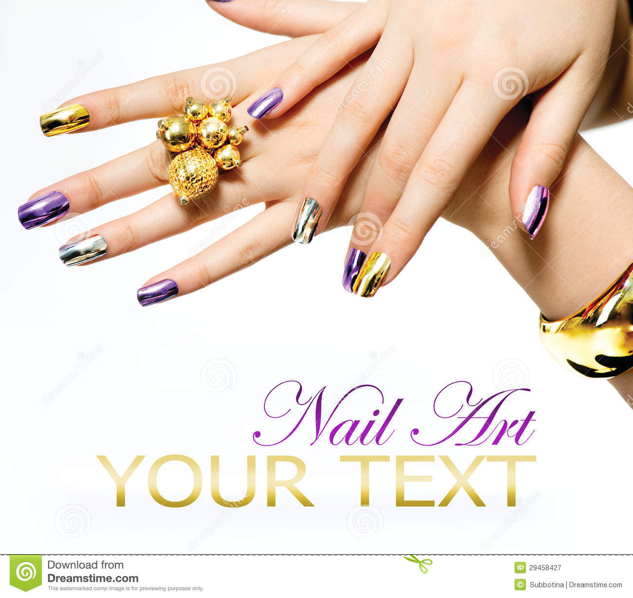 Metallic Nail Polish Royalty Free Stock Photography