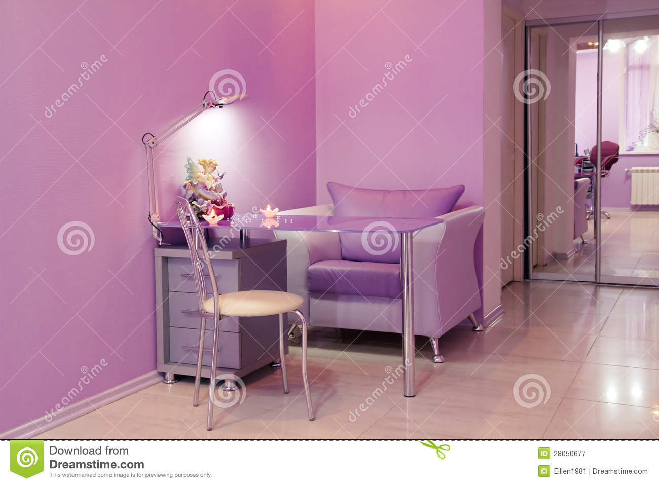 Manicure Room In A Modern Beauty Salon Stock Image Image