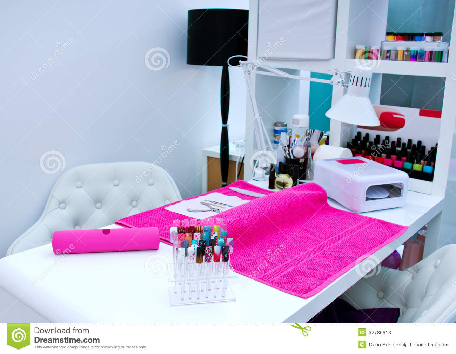 Manicure table stock image. Image of nails, make, fashion - 32786613