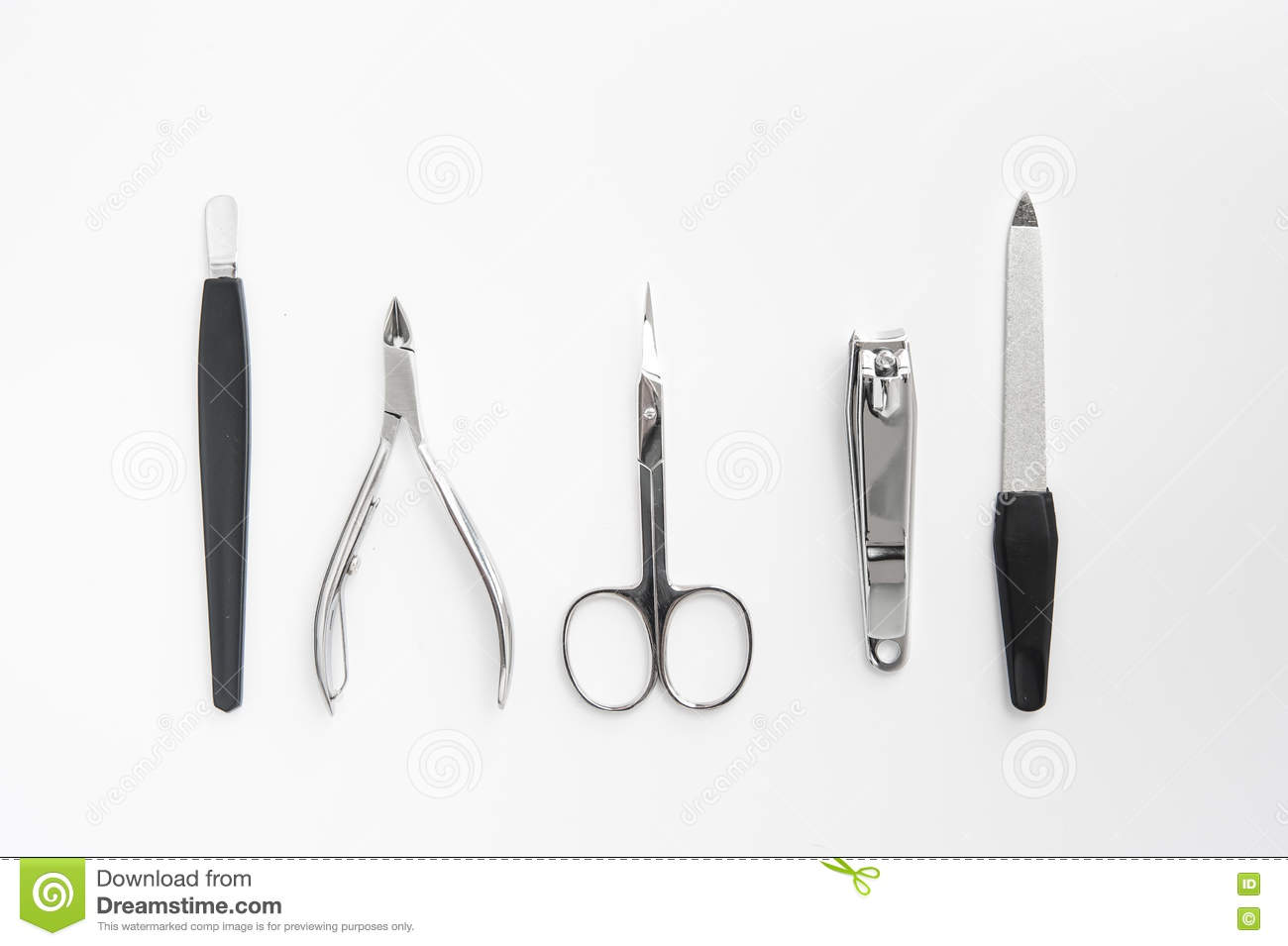 Manicure Tools Set Nail Care Top View Stock Photo - Image of ...