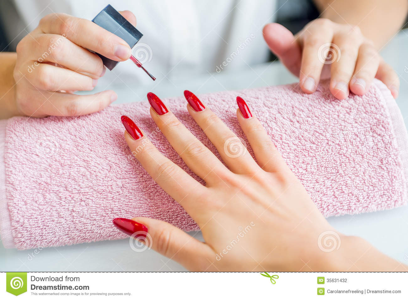 Manicure treatment stock photography image 35631432 for A beautiful you salon