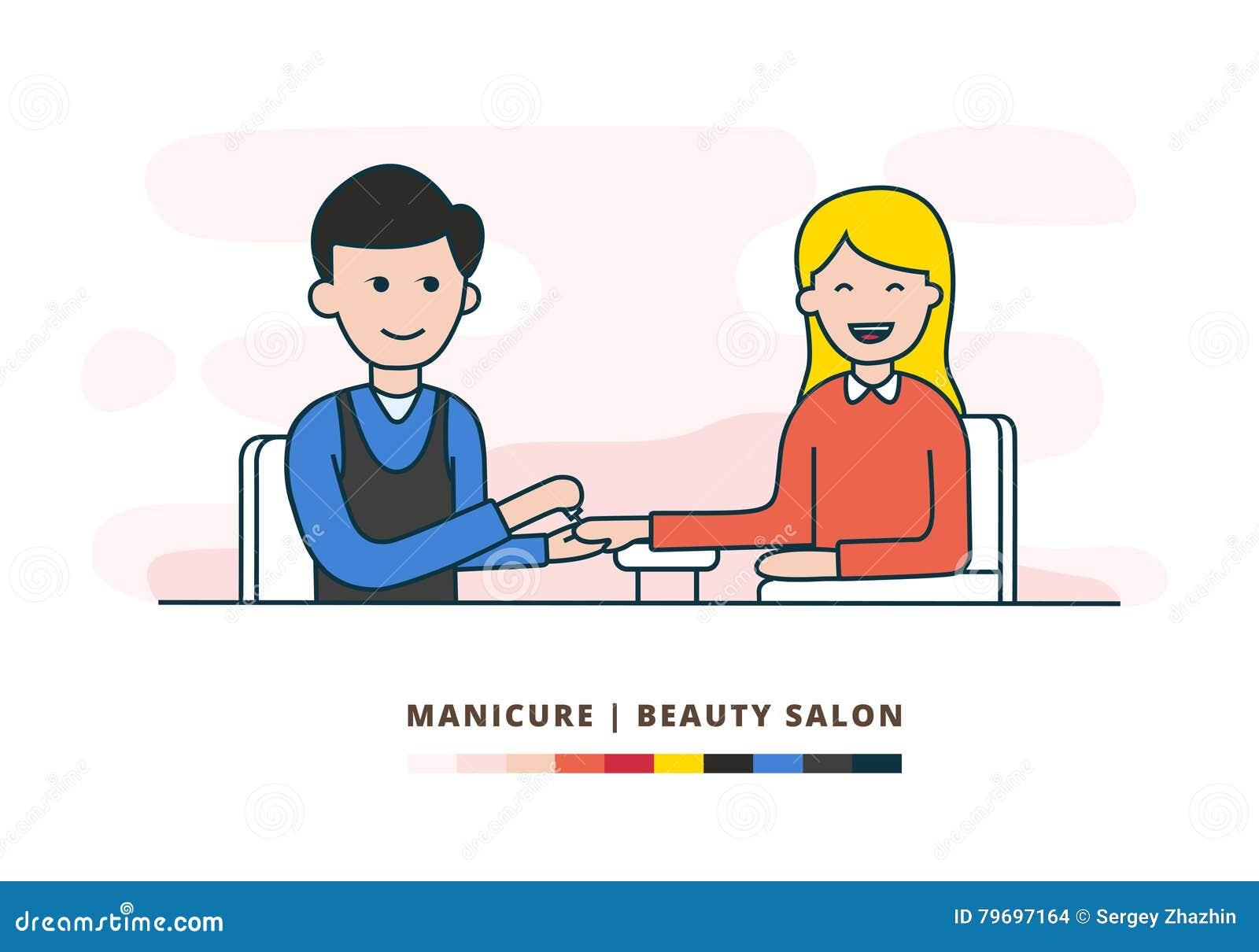 Manicure wektorowa płaska ilustracja EPS10