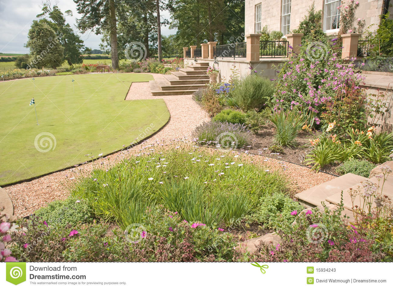 Download Manicured garden. stock image. Image of manicured, purple - 15934243