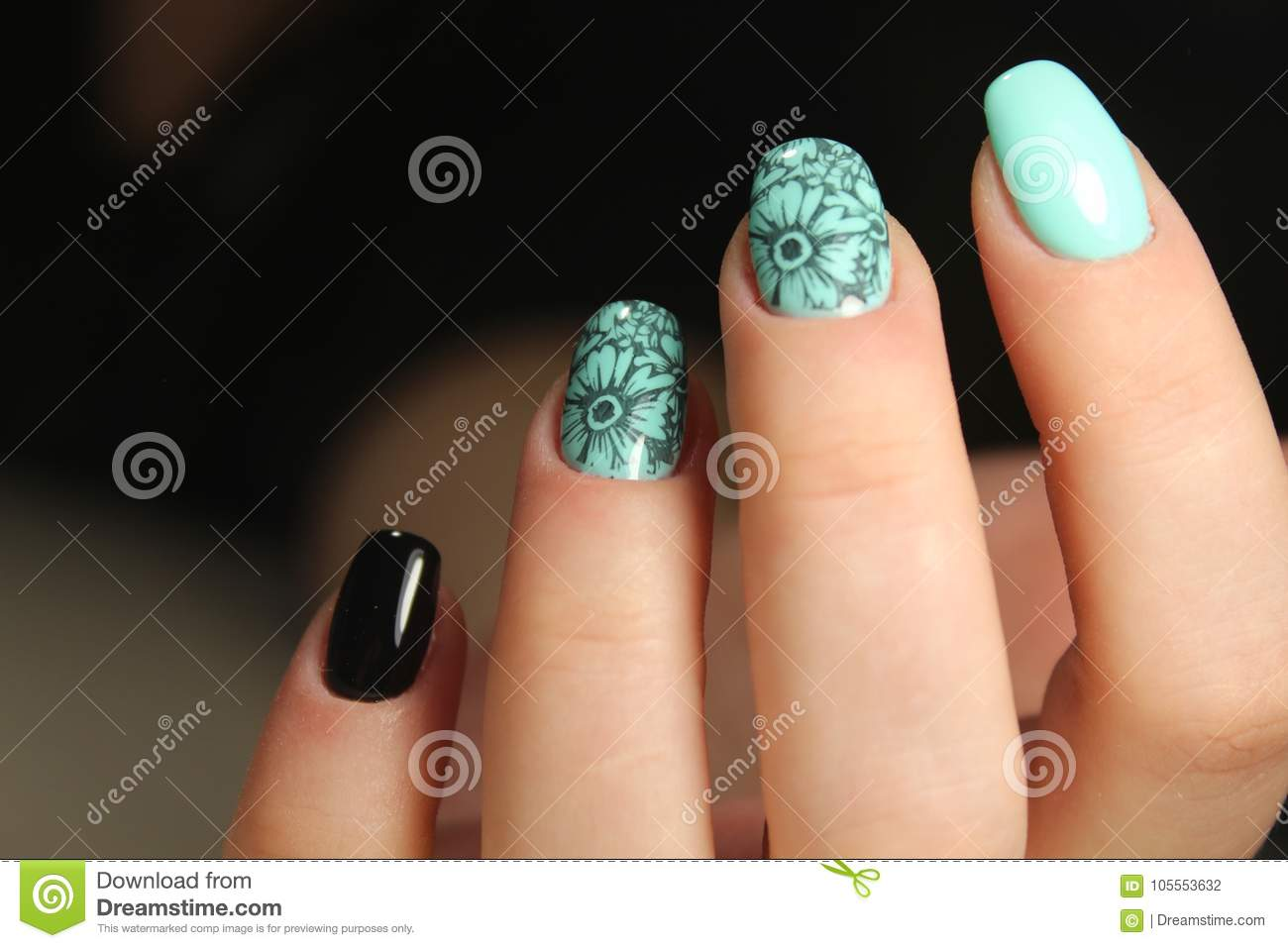 Manicured Nails Nail Polish Art Design Stock Photo Image Of Salon