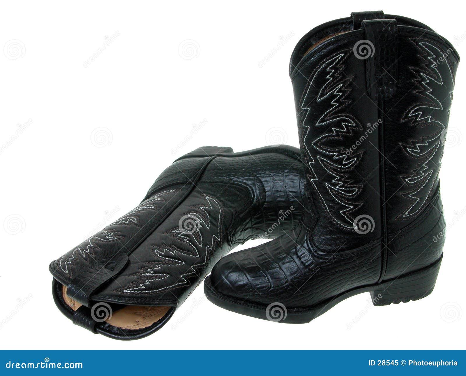 Manier: De zwarte Laarzen van de Cowboy van de Peuter (1 van 2)