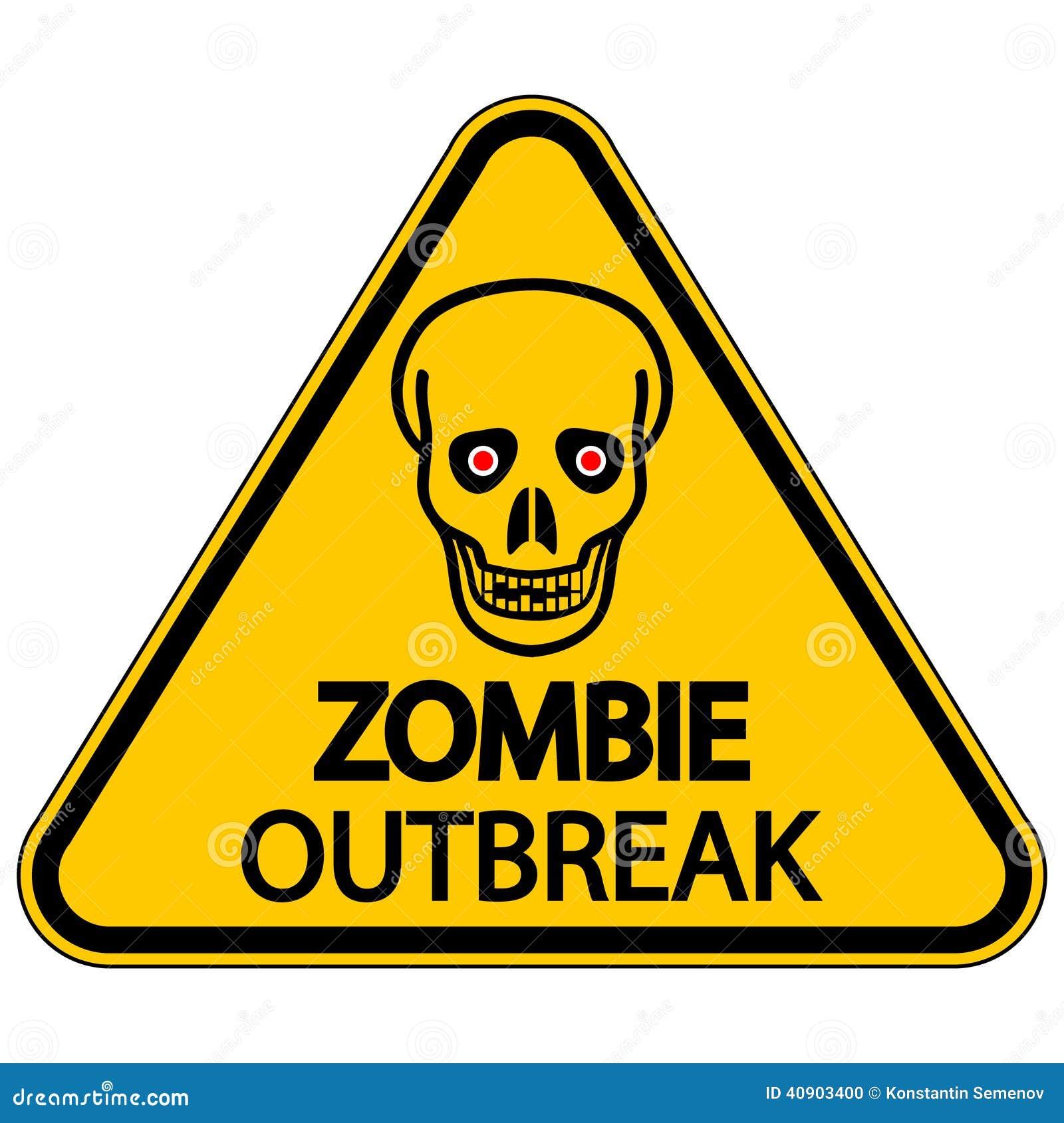Manifestação de advertência do zombi