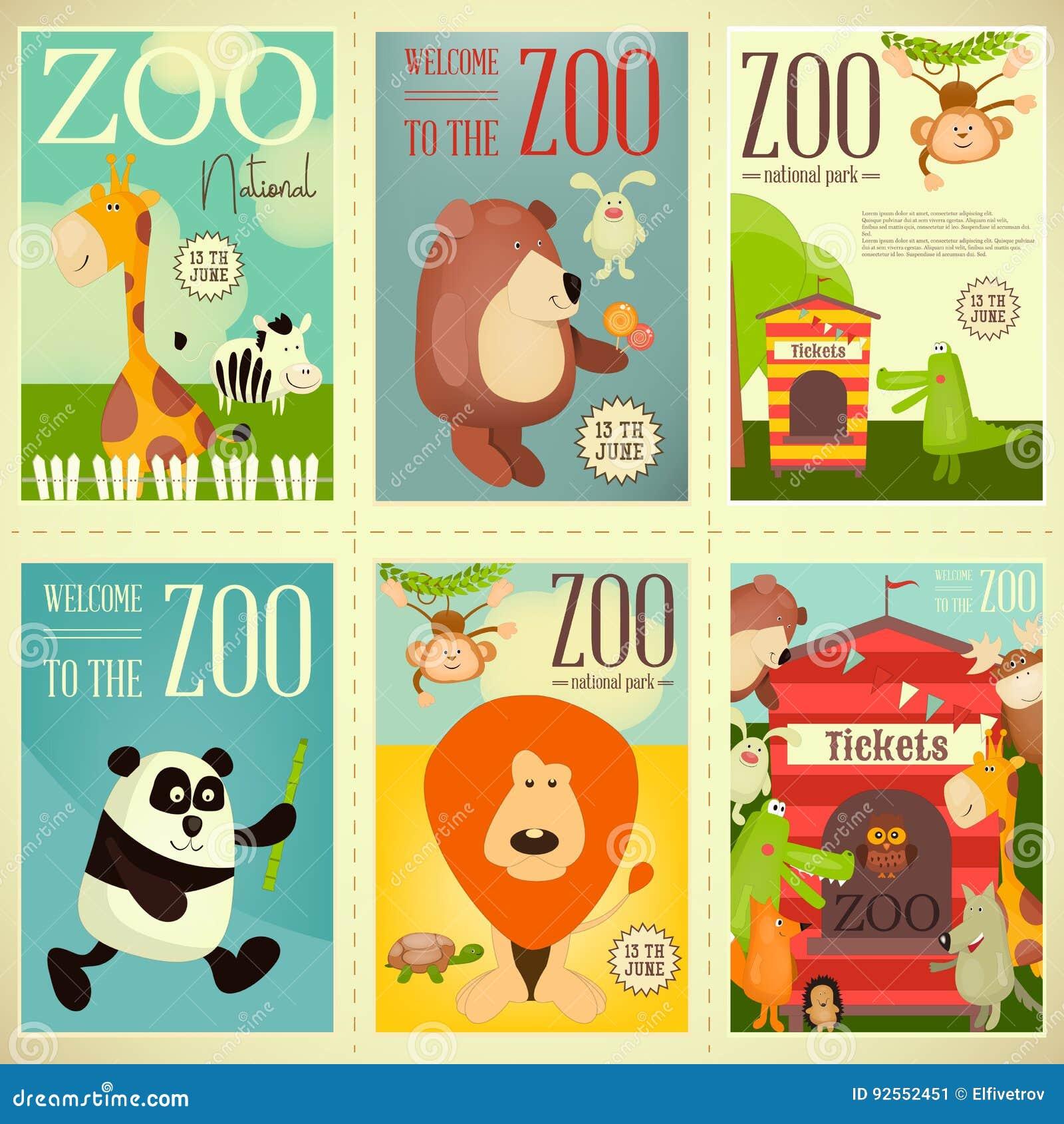 Manifesti del parco dello zoo