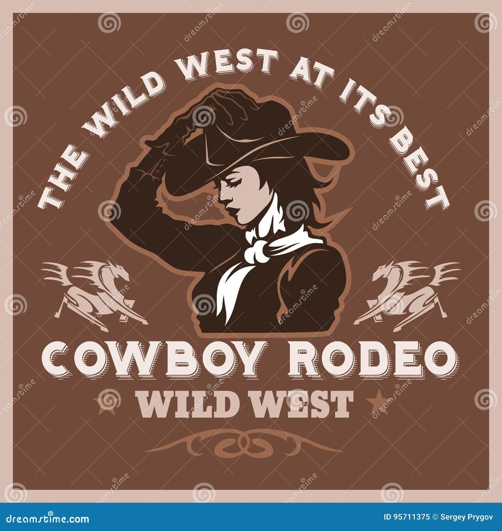 Manifesto americano del rodeo del cowboy