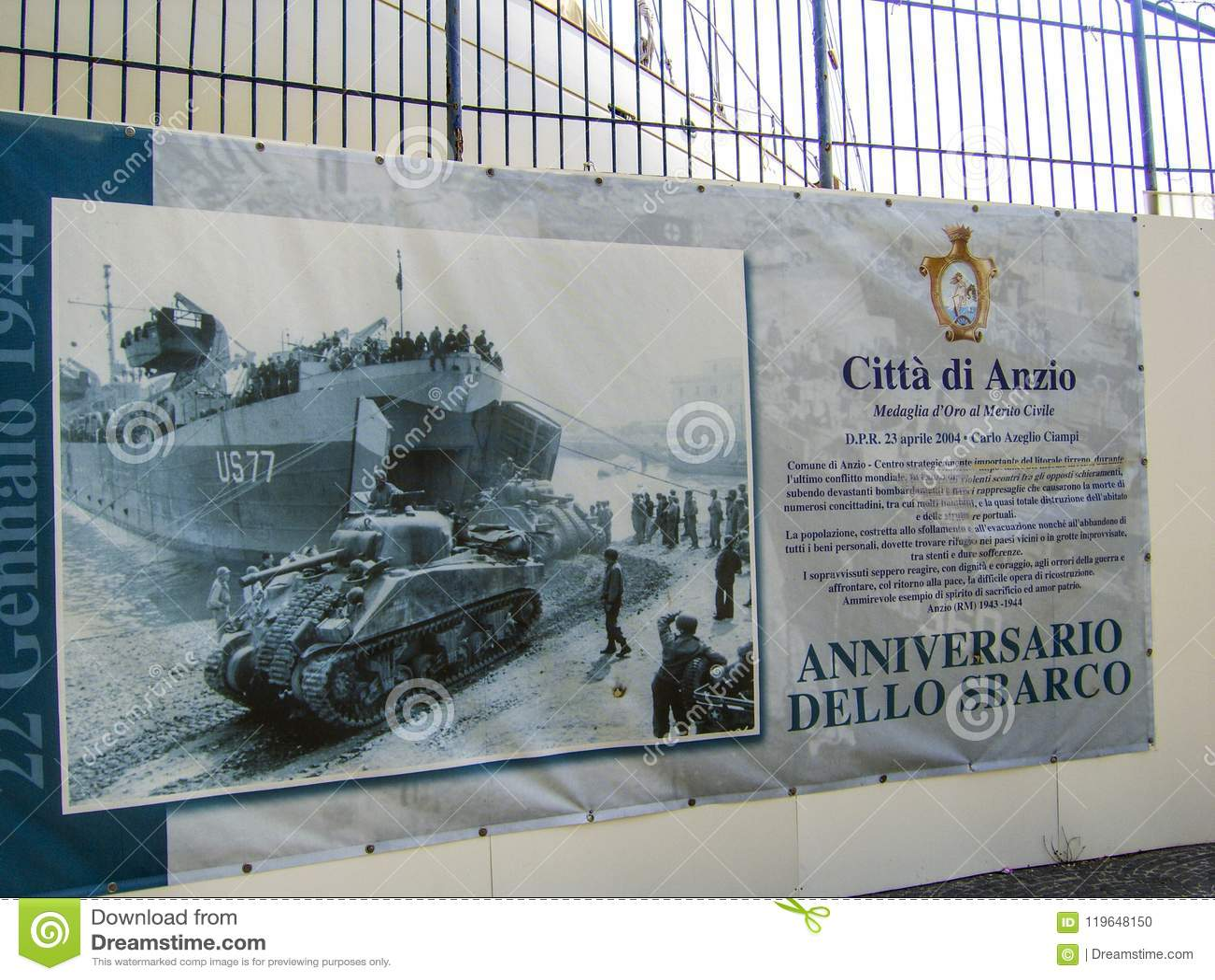 Manifesto che mostra l invasione di liberazione con le forze a Anzio, guerra II degli Stati Uniti del duringWorld dell Italia