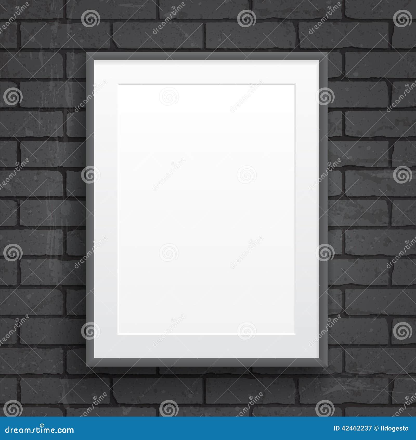 Manifesto della carta in bianco con la struttura