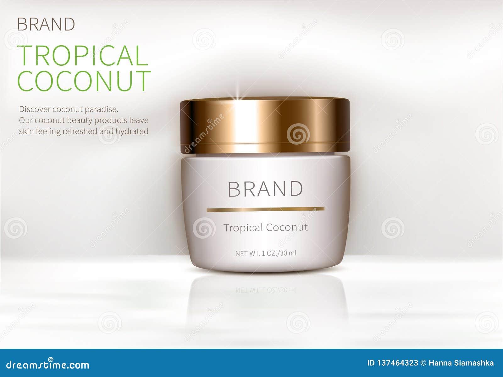 Manifesto di concetto per crema naturale organica
