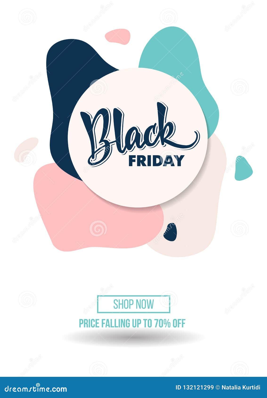 Manifesto di offerta di promo di sconto di vendita di Black Friday o mosca di pubblicità