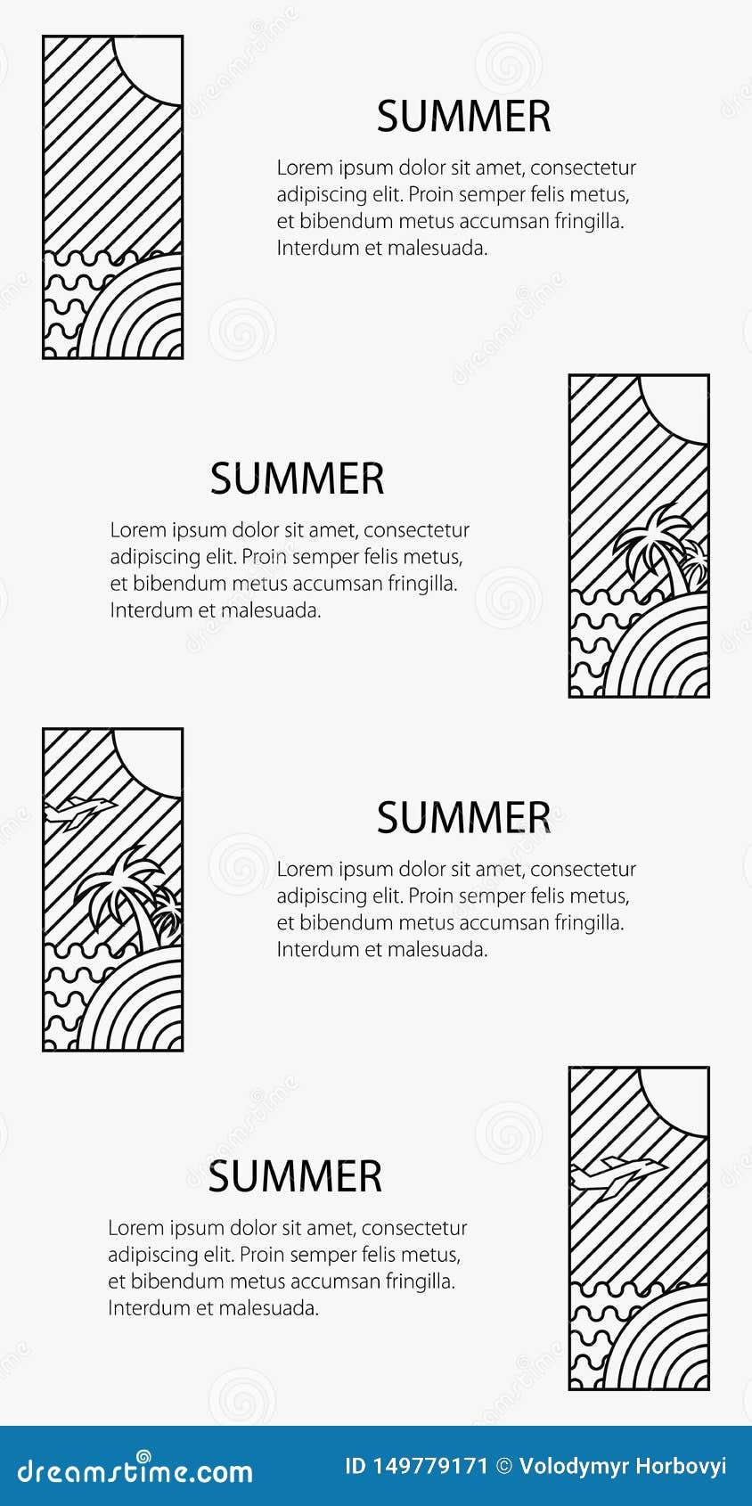 Manifesto di tema di estate, insegna di vacanza