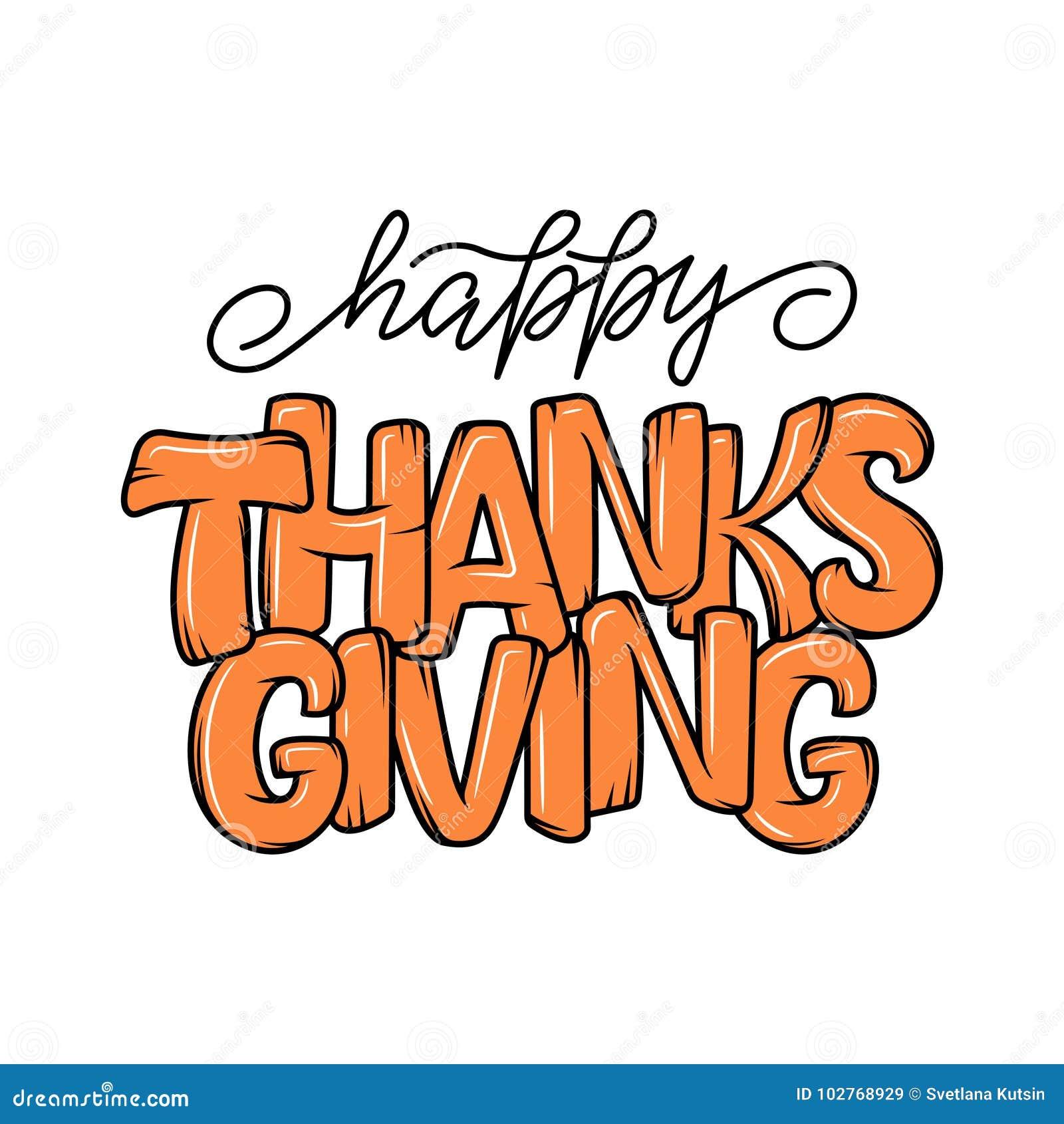 Manifesto disegnato a mano di tipografia di ringraziamento Citazione dell iscrizione di celebrazione