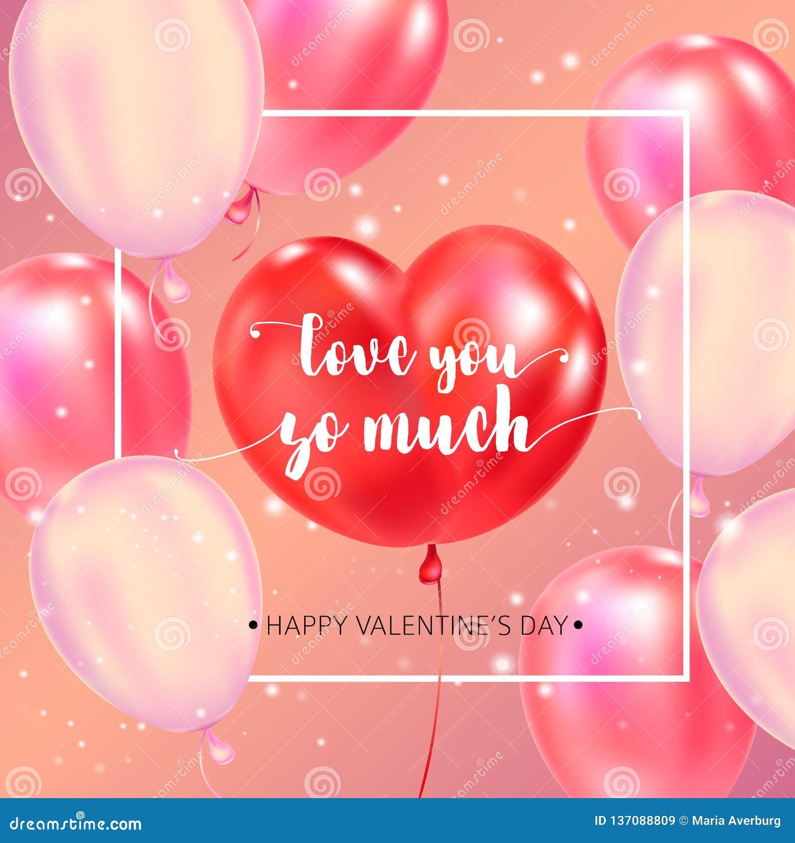Manifesto felice di tipografia di giorno di biglietti di S. Valentino con il testo scritto a mano di calligrafia