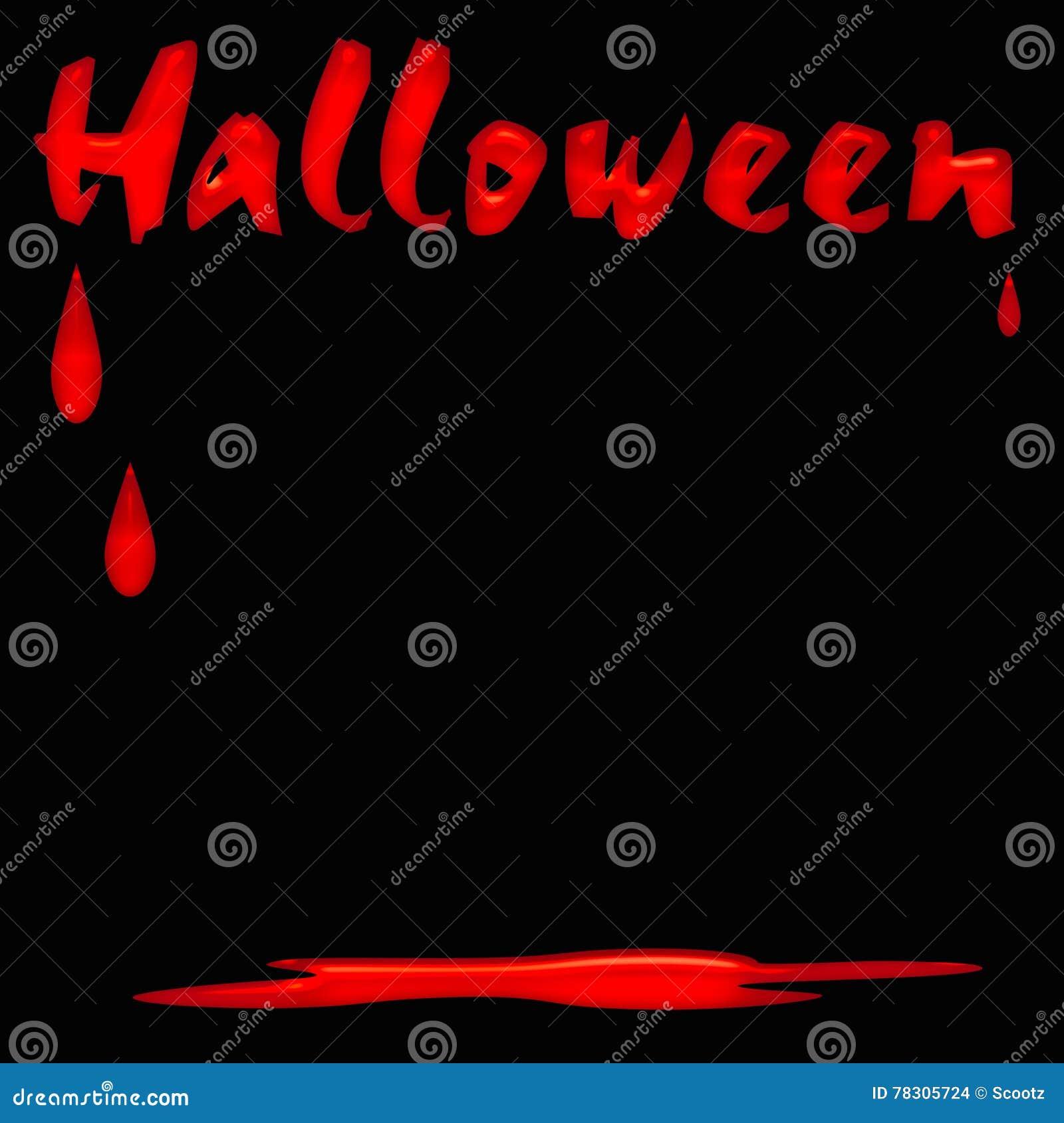 Manifesto sanguinoso di Halloween
