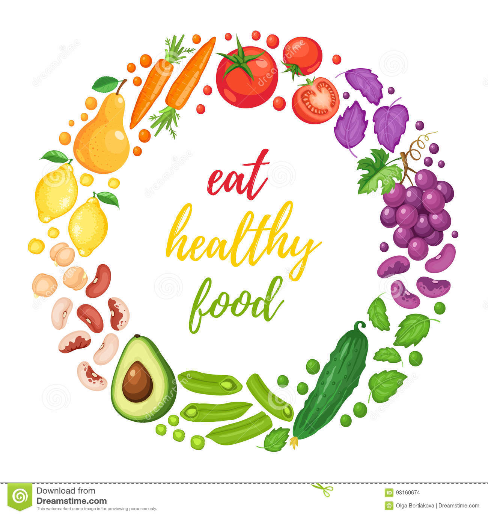 Manifesto sano di cibo