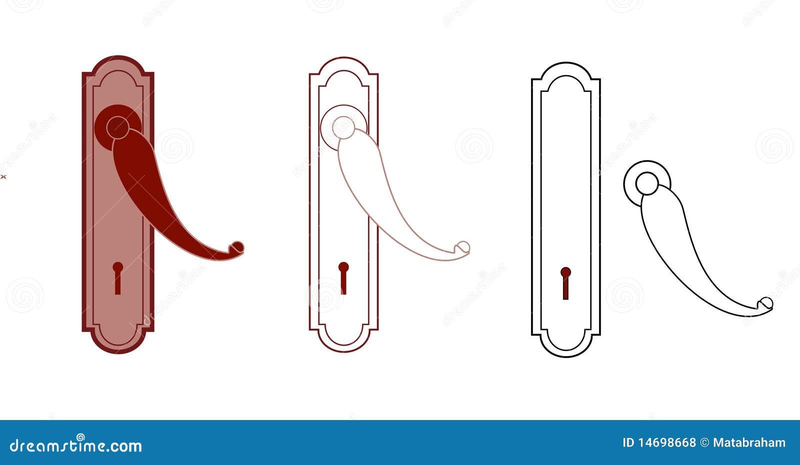 Maniglia della porta e buco della serratura fotografie - Maniglia della porta ...