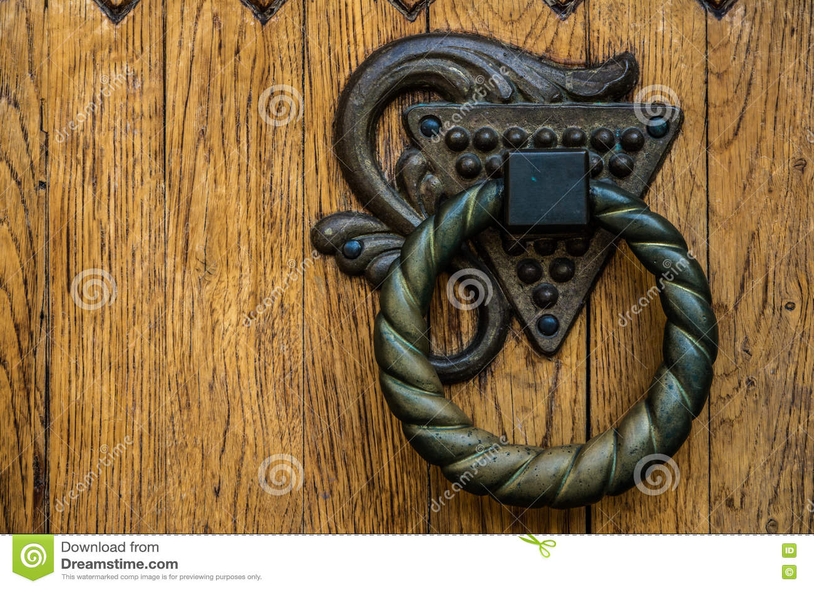 Maniglia Di Porta Rotonda Fotografia Stock Immagine Di Fetters