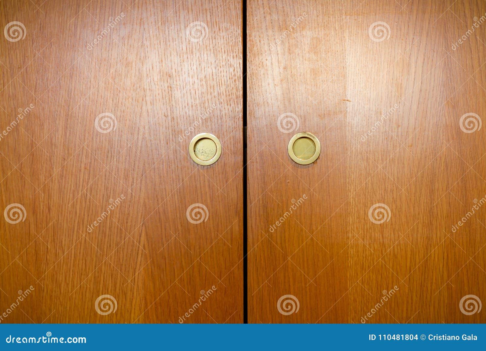 Manijas de madera del guardarropa