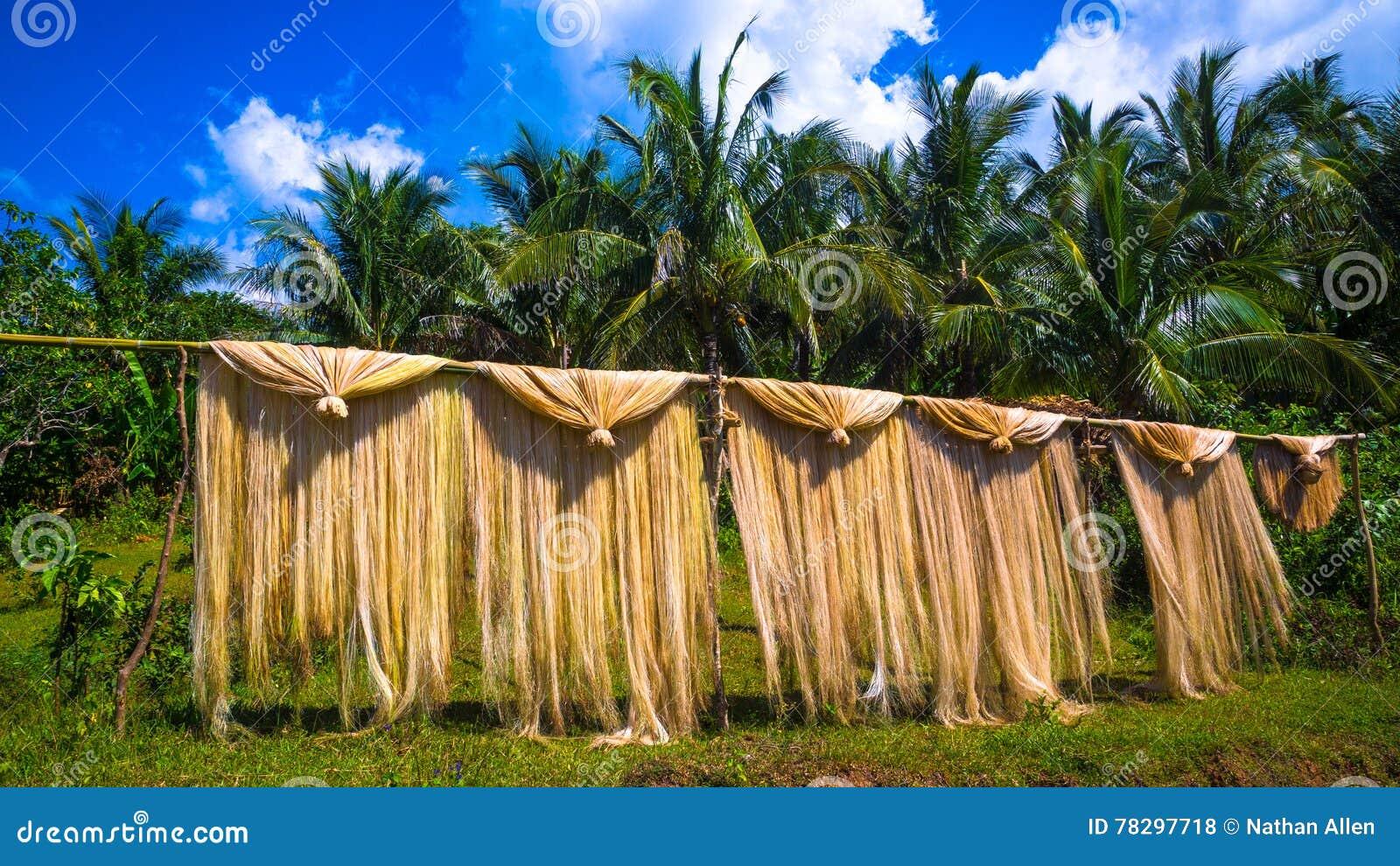Manila konopie osuszka na Bambusowym słupie