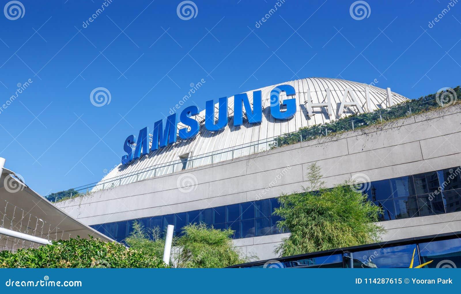 Samsung Logo At SM Aura Premier Building, Shopping Mall In