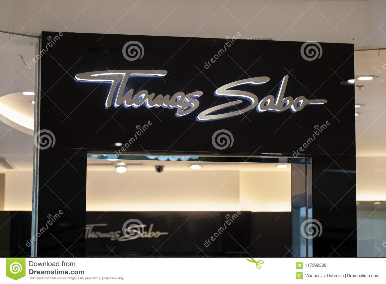 616f469ba Manila, Philippines, 22 March 2018 - Thomas Sabo brand name on store  entrance in SM Mall of Asia shopping mall.