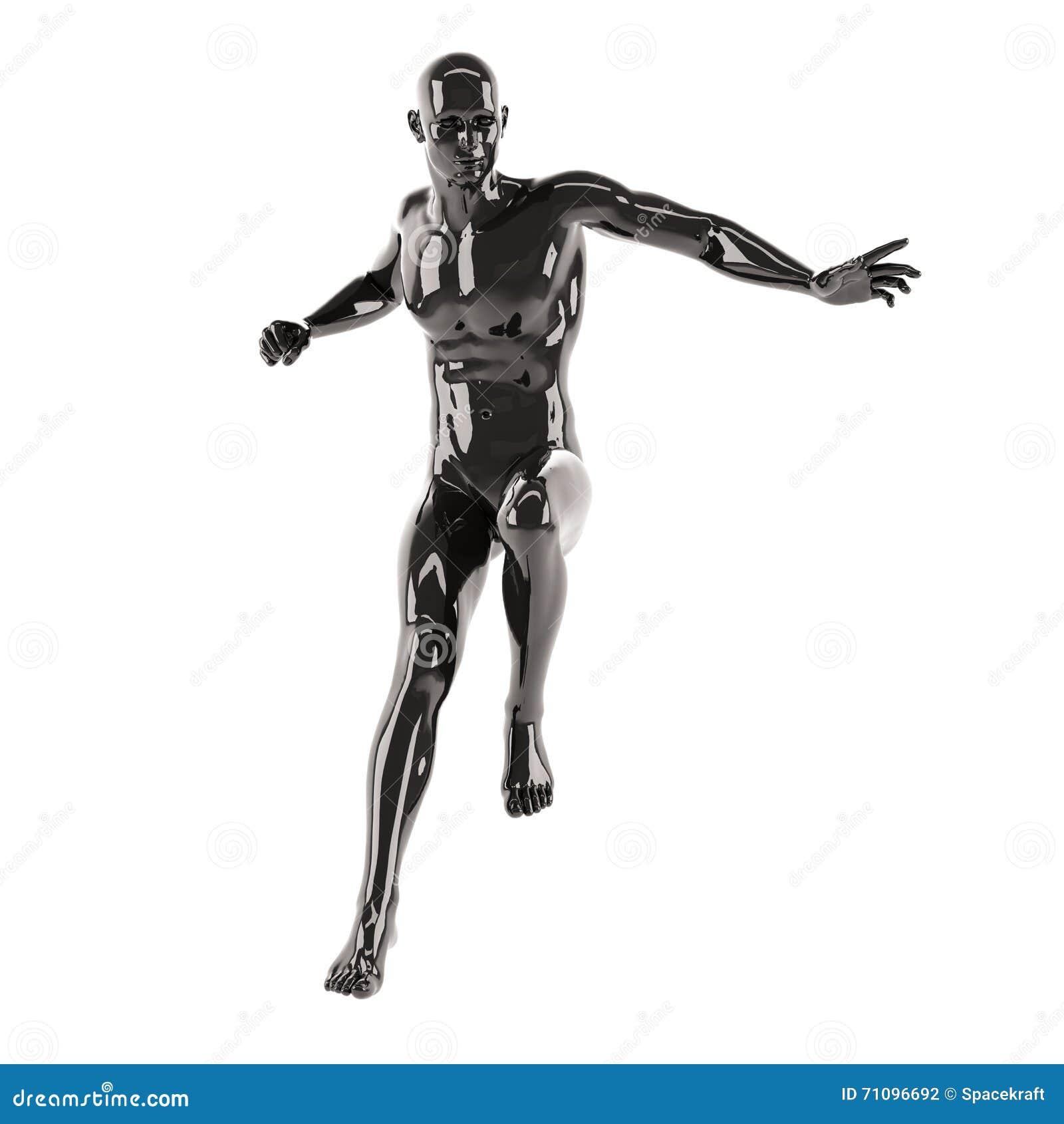 Cuerpo Humano Con Actitud Delantera Stock de ilustración ...