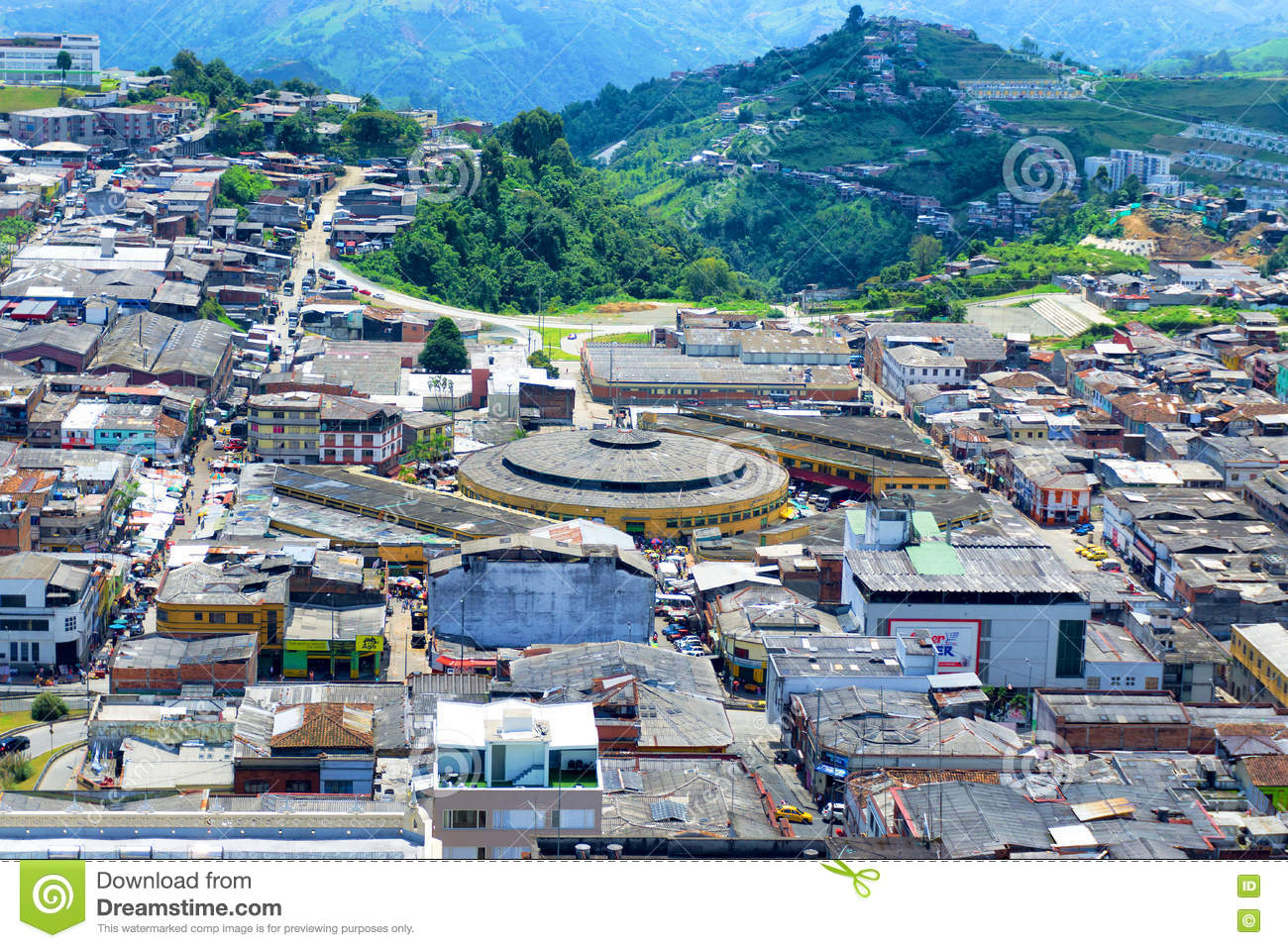 Manizales Colombia View Editorial Stock Image Image Of Altitude
