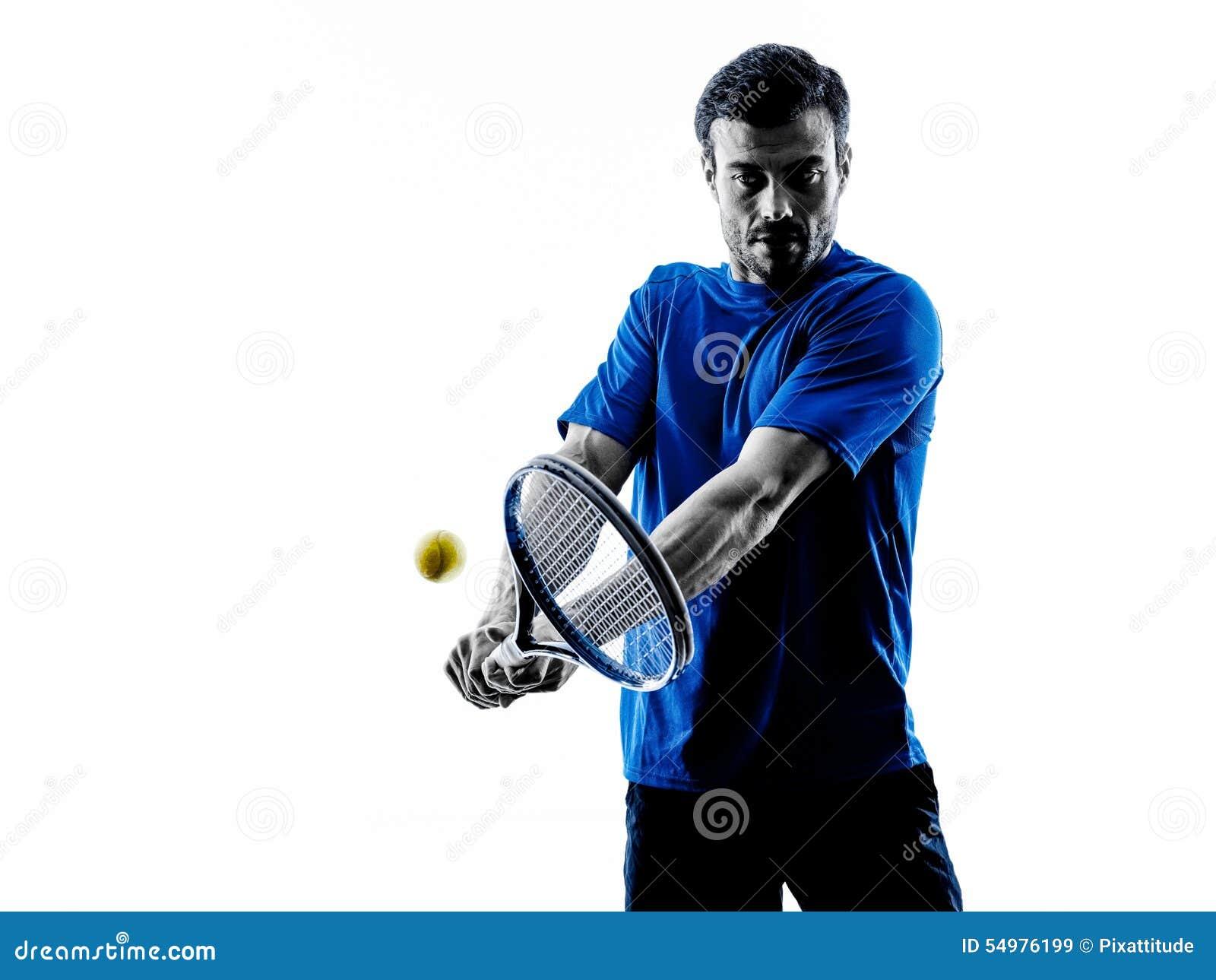 Mankontur som spelar tennisspelaren