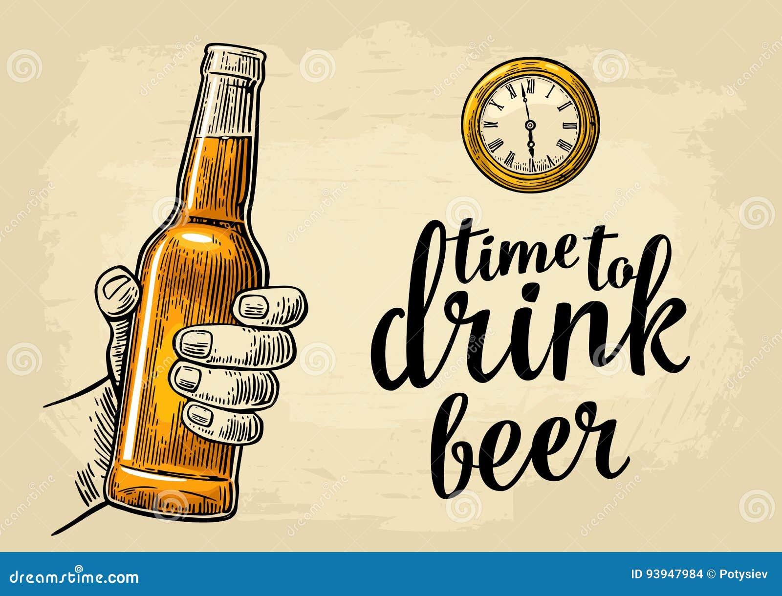 Manlig öl för handinnehavflaska och antikvitetrova