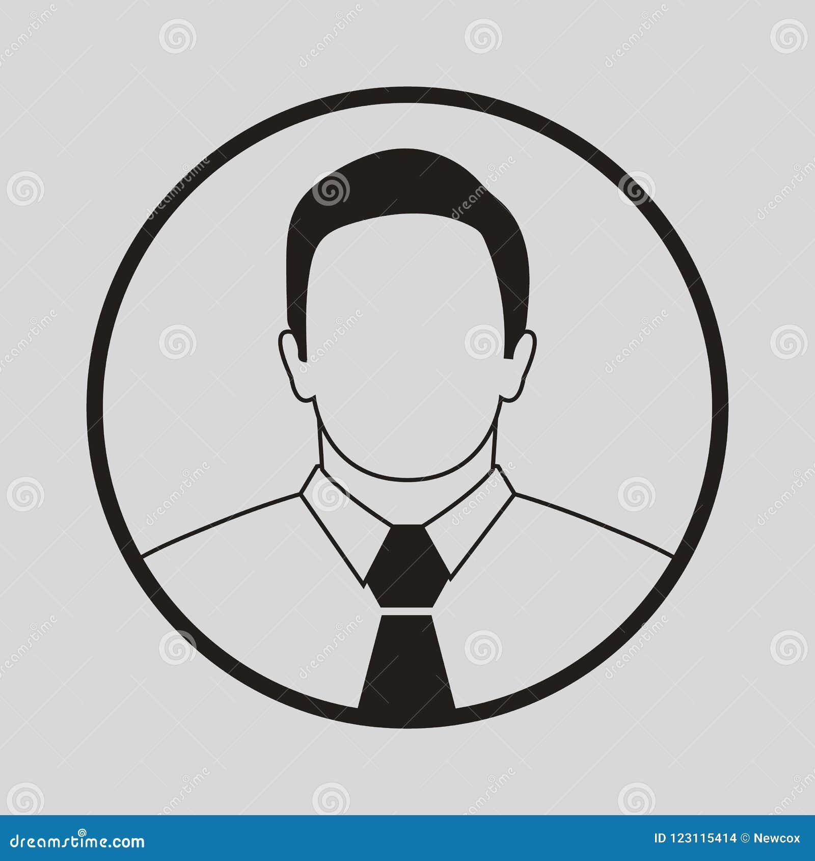 Manlig avatarsymbol med bandet
