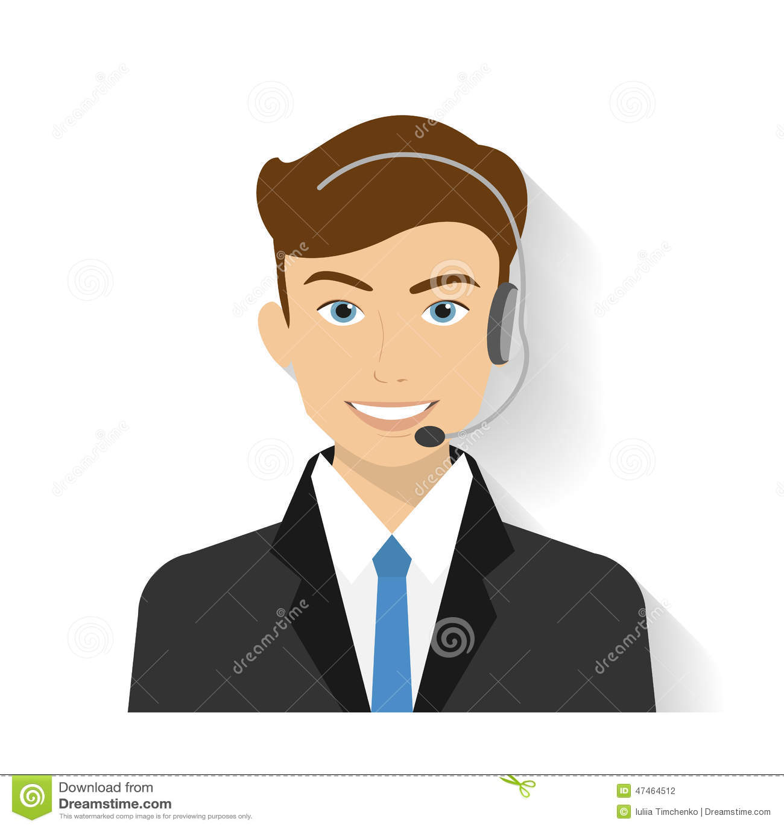 Manlig call centeroperatör